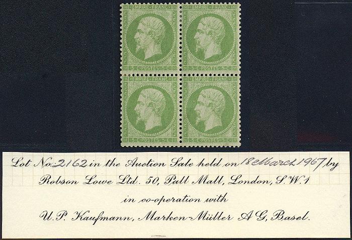 Lot 430 - Empire 1849-1870  -  Merkurphila OG Auction #36